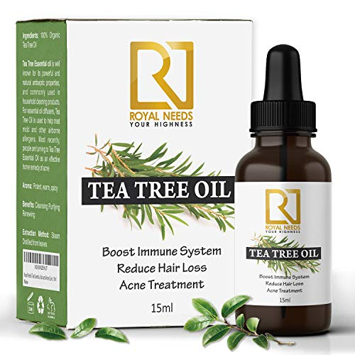 ROYAL NEEDS Tea tree essential oil for skin,hair and acne care(15ml) undiluted therapeutic grade tea...