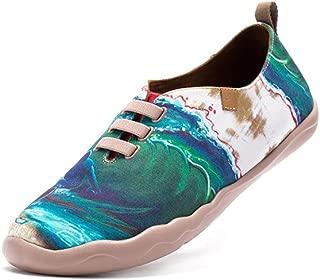 Painted Travel Canvas Shoes Slip On Flats Unisex Men Women
