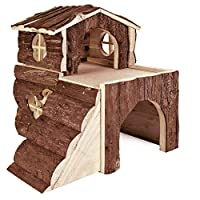 Bork house for rabbit and small rodent High quality design The house is already pre-assembled Little house is made up of an observation tower where your little friend can cram their cheeks full 2 storey's with ramp Good value High quality design