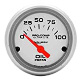 Auto Meter 4327 Ultra-Lite Electric Oil Pressure Gauge,2.3125 in.