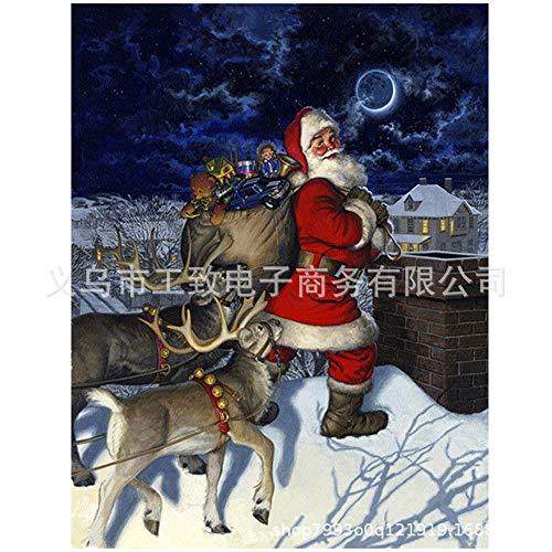 lpf Diamantbohrlöcher voller Diamanten Malerei Pasten DIY Kreuzstich Weihnachten Schneemann Weihnachtsmann Amazon Ebay-Source-Hersteller (Color : 12)