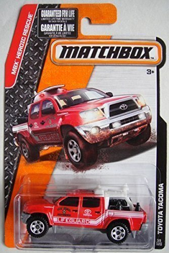 MATCHBOX 2015 RELEASE RED TOYOTA TACOMA SAN DIECO FIRE RESCUE LIFEGUARD 59/120 by Matchbox