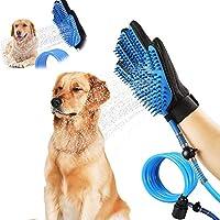 ペット入浴ツール犬シャワースプレースクラブ、ペット犬/猫シャワーシリコングローブマッサージブラシ