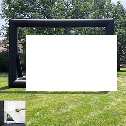Replacement White Screen 24ft Inflatable Projector Screen,No Seam