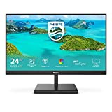 Philips 245E1S Gaming Monitor 24' LED IPS 2K Freesync a 75 Hz, 2560 x 1440, Ultra Wide Color, 4ms, 3 Side Frameless, Flicker Free, HDMI, Display Port, VGA, Vesa, Nero