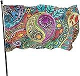 Alanader Garten-Flagge, Patry Flagge, 3X 5 Ft Hippie-Kunst-Flagge: Flagge stark die stärksten, längsten dauerhaften Flaggen-Staatsflaggen-im Freienflaggen