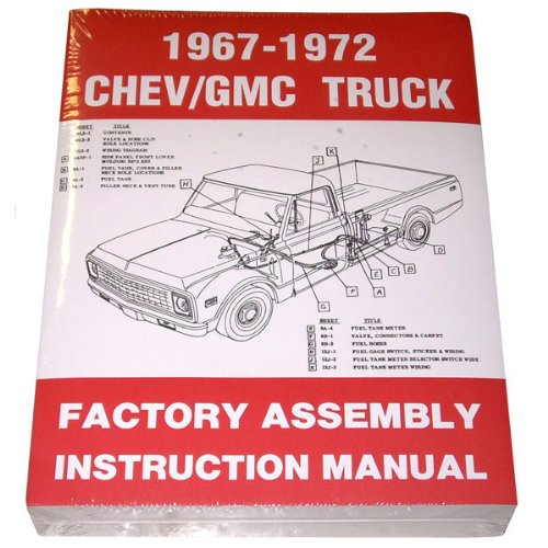 1967 68 69 70 71 72 Chevy Truck Factory Assembly Manual Chevrolet GMC Pickup Truck Suburban Blazer Jimmy Panel