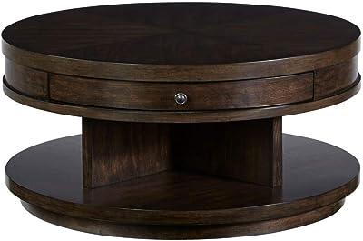 Amazon Com Christopher Knight Home Ckh Lenox Oval Mod Rotating Wood Coffee Table Black Furniture Decor