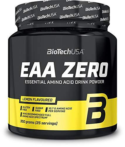 EAA ZERO limone 330 g barattolo - Amminoacidi essenziali bevanda in polvere senza zucchero - BiotechUSA