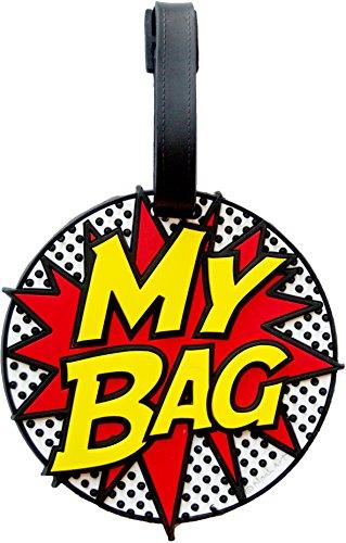 My Bag Comic Book 3-d Luggage Tag Large Heavy Duty ID Tag