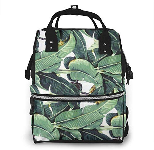 Banana Leaf Diaper Bags Fashion Mummy Backpack Multi Functions Large Capacity Nappy Bag Nursing Bag for Baby Care for Traveling