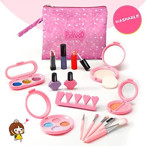 Pickwoo Kinderschminke Set Mädchen für Kinder 16 Stück Waschbar Schminke Makeup Set Kinder...