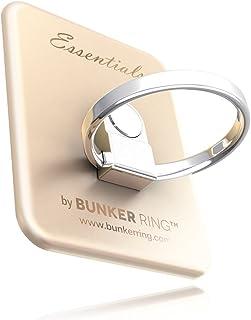 BUNKER RING Essentials(Matt 6) バンカーリング iPhone/iPad/iPod/Galaxy/Xperia/スマートフォン・タブレットPCを指1本で保持・落下防止・スタンド(ゴールド)