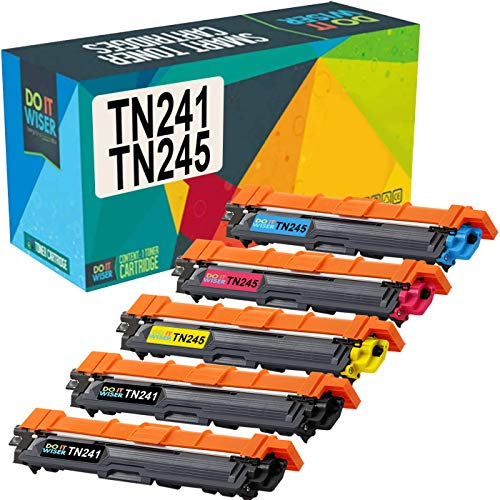 Cartuccia di toner TN241 TN245 Do it wiser Compatibile In sostituzione di Brother TN-241 TN-245 MFC-9140CDN HL-3140CW DCP-9020CDW MFC-9340CDW HL-3150CDW MFC-9330CDW HL-3170CDW (Confezione da 5)