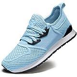 Zapatillas de Deporte Hombres Running Zapatos para Correr y Asfalto Aire Libre y Deportes Calzado Ligero Transpirables Gimnasio Sneakers, 36 EU, Cielo Azul