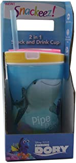 Finding Dory Snackeez Jr 2-in-1 Snack and Drink Cup (Yellow Rim)