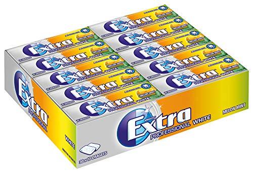 EXTRA Kaugummi | Professional White Melon Mint | Zuckerfrei | 30 Packungen (30 x 10 Dragees) | 420 g