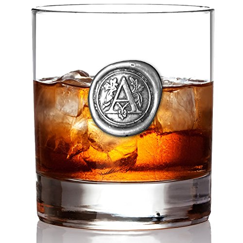 English Pewter Company Whisky Glass with Monogram Initial