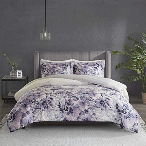 3pc King/Cal King Slade Cotton Printed Duvet Cover Set Purple