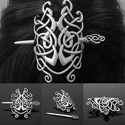 JESMING Women Girls Celtics Large Knots Crown Birthday Hairpin Gift Slide Clip Alloy (One Size)