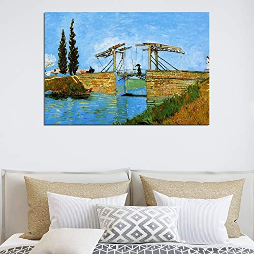 Jigsaw puzzle 1000 piece Langrou Bridge, with an umbrella, for Van Gogh's impressionist jigsaw puzzle 1000 piece Educational Intellectual Decompressing Toy Puzzles Fun Family Game50x75cm(20x30inch)