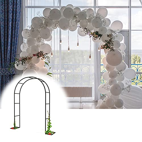 Gnova Arco de Jardin Arcos de Rosas Soporte para trepadoras,2.3m altox1.4m Ancho,pérgola Liviana para Plantas terraza al Aire Libre,Ornamental