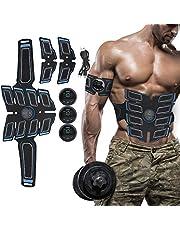 BELLY MUSCLE TRAINER ELECTRICAL - EMS-spierstimulator met 15 krachtniveaus, EMS-trainingsapparaat voor mannen, buikspiertrainer voor buikarmbeen (6 modi)