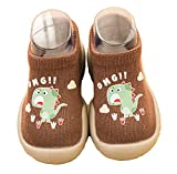 SMajong Bebé Zapatos de Calcetines Niños Zapatos de Primeros Pasos Suave Antideslizante Zapatos de Casa Verano Transpirables 18/19 EU