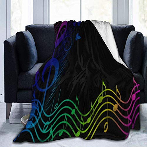 Etryrt Überwürfe, Luxury Collection Microplush Flannel Kuscheldecken Rainbow Music Spectrum Pinterest Lightweight All-Season Anti-Static for Fleece Throw Sofa Couch Bed 50