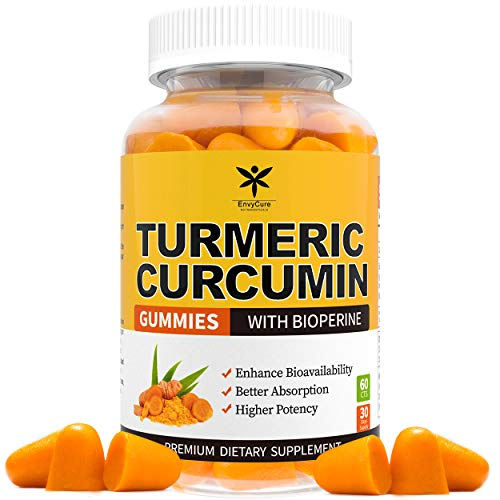 Turmeric Curcumin Gummies with BioPerine for Joint & Inflammation Support, Premium Turmeric Gummies for Adults with 95% Curcuminoids 12000mg, Organic Antioxidant & Anti-inflammatory Supplement