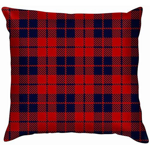 NA rood blauw tartan plaid Scottish soft kussensloop kussenslopen Throw Pillow Decor kussensloop Home Decor