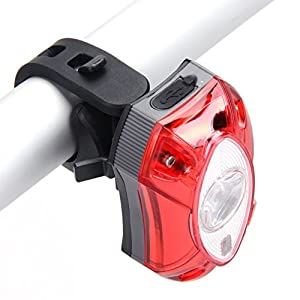 Amazingdeal365 Raypal 3W USB Luz trasera impermeable de la bicicleta USB recargable