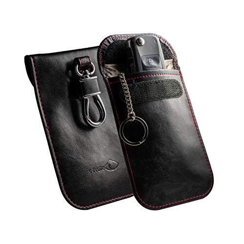 Keyless Go Schutz Autoschlüssel RFID Schutzhülle Funk Abschirmung Auto Schlüssel Blocker Tasche Etui für Autoschlussel Strahlen Diebstahlschutz