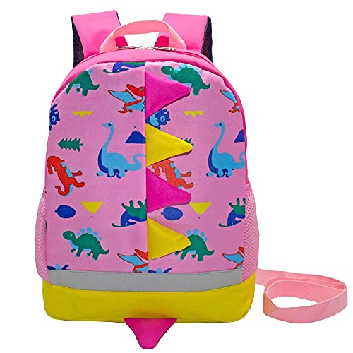 Teman Kids Toddler Backpack With Leash Chest Clip Cute Cartoon Schoolbag Backpack For Girls Boys Baby