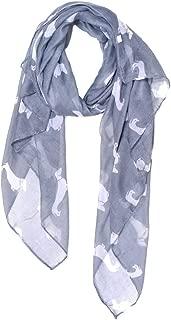 scarf with dachshund on it