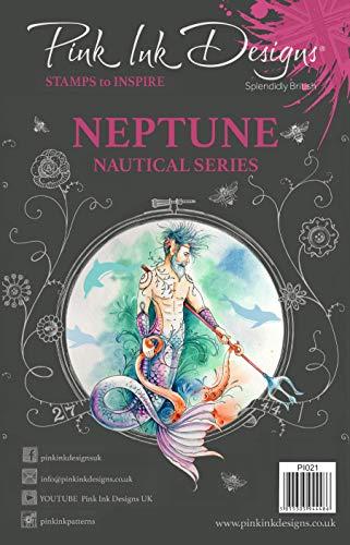 Roze Inkt Ontwerpen Roze Ink-Neptunus-Clear Stempel, A5