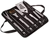Home-Complete BBQ Grill Tool Set- Stainless Steel Barbecue Grilling Accessories with 7 Utensils and Carrying Case, Includes Spatula, Tongs, Knife