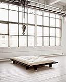 Futonbett Japan Kiefer Massiv Schwarz 140cm x 200cm