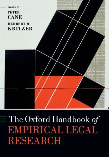 The Oxford Handbook of Empirical Legal Research (Oxford Handbooks)