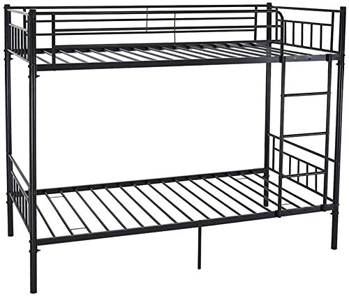 Single Metal bunk Bed 2 Person Bed Frame Children Twin Bedroom Furniture,Black