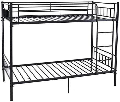 Litera de metal individual bastidor de la cama 2 niños gemelos,Black