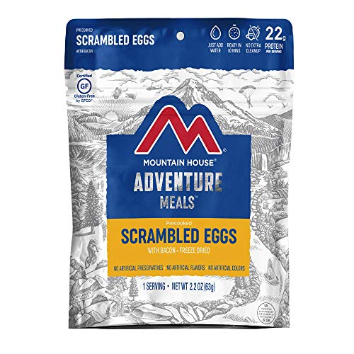 Mountain House Scrambled Eggs with Bacon | Freeze Dried Backpacking & Camping Food | Single Serving | Gluten-Free