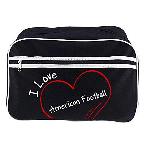 Retrotasche Modern I Love American Football schwarz