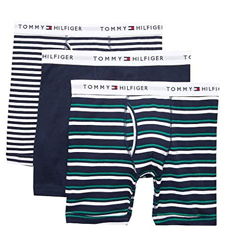 Tommy Hilfiger Men's Underwear Multipack Cotton Classics Trunks, Ink Blue, M