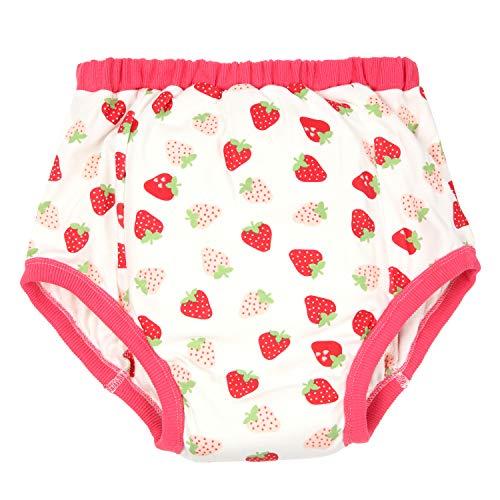 [ママミッケ] リハビリパンツ メンズ 大人用 下着 かわいい 綿100% 日本製 肌着 通気 柔らかい 吸湿 快適 防水機能なし (いちご, L)