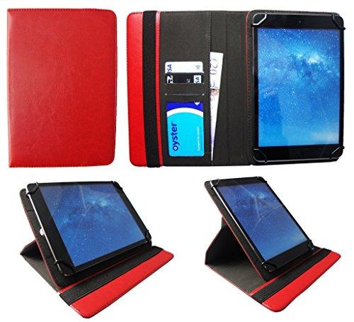 Odys Neo Quad 10 Zoll Tablet Rot Universal 360 Grad Drehung PU Leder Tasche Schutzhülle Hülle von Sweet Tech