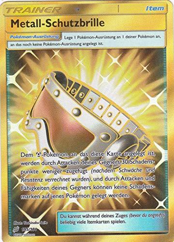 195/181 - Metall - Schutzbrille - Secret Rare - Pokemon - Deutsch - Teams sind Trumpf