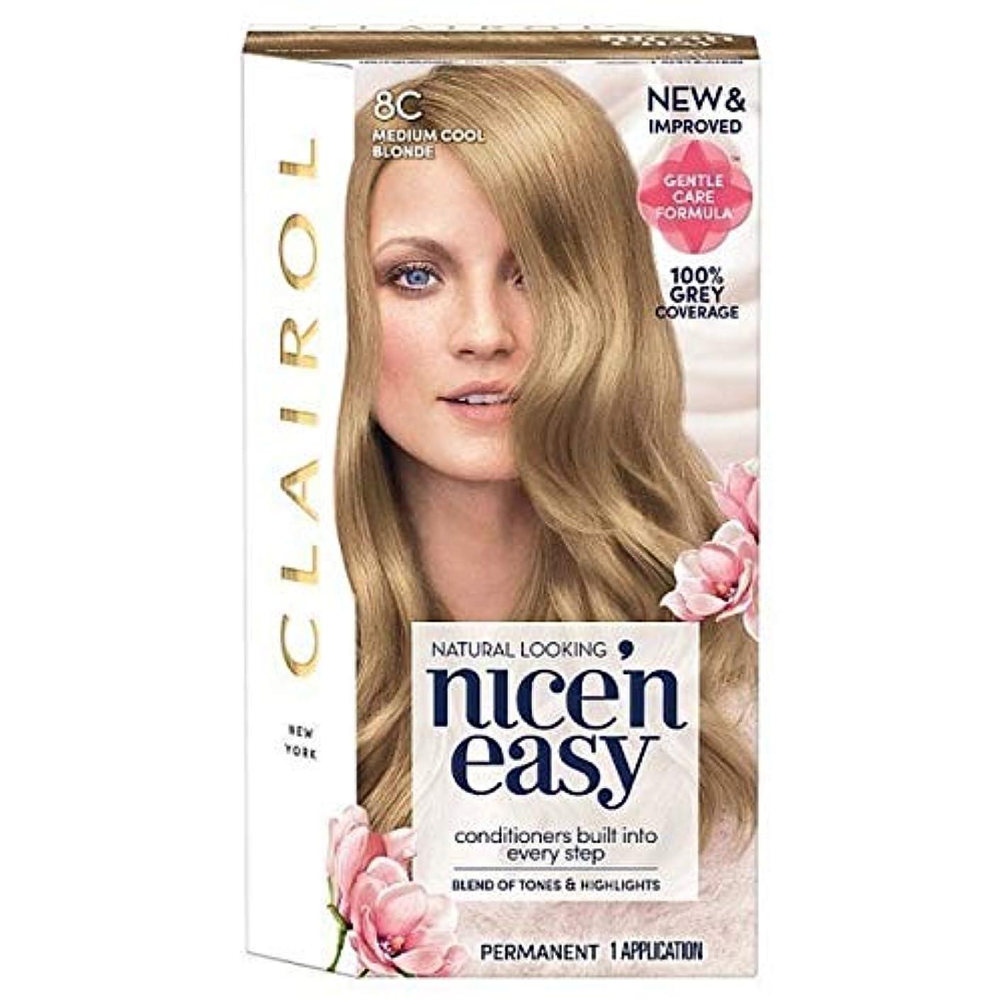 グリース懲戒合併[Nice'n Easy] Nice'N簡単8Cの媒体クールなブロンド - Nice'n Easy 8C Medium Cool Blonde [並行輸入品]