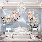 Foto Wallpaper Fiori Gioielli Seta 3D Adesivo murale Carta da parati Picture Decoration affresco Decor
