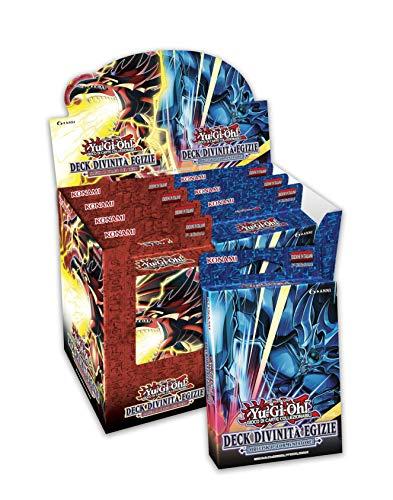YU-GI-OH!- Trading Card Game Structure Deck-divinità Egizie Obelisk/Slifer (8 mazzi), Colore Rosso/Blu, 192701